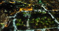 Hyde Park Sydney Aerial At Night Royalty Free Stock Image - 35419506