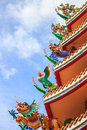 Colorful Chinese Temple Roof Stock Image - 35419541