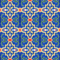 Spanich Moroccan Style Vintage Ceramic Tile Stock Photos - 35432203