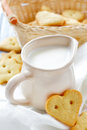 Milk And Gingerbread Royalty Free Stock Photos - 35434558