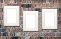 Photo Frames On Brick Wall Royalty Free Stock Images - 35443219