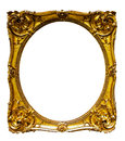 Oval Gold Picture Frame Stock Photography - 35444202