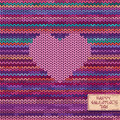 Valentine S Knitted Seamless Pattern Or Card With Heart Royalty Free Stock Photo - 35447365