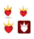 Abstract Icon Set With Heart Stock Image - 35448541