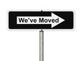 We Ve Moved Sign Royalty Free Stock Photography - 35464107