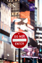 Do Not Enter New York Traffic Sign Royalty Free Stock Photo - 35464435