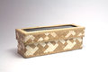 Woven Cream And Brown Box Royalty Free Stock Image - 35474056