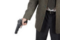 Man Holds A Pistol In His Hand Stock Photos - 35483473