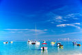 Boats In Mauritius Royalty Free Stock Photography - 35484457