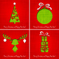 Vector Merry Christmas Paper Greeting Card Stock Image - 35485061