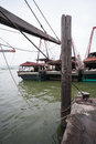 Fishing Boats Are At The Pier At The Fishing Port In Macau. Stock Photos - 35491983