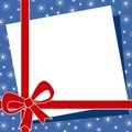 Red Christmas Bow Border 2 Stock Photography - 3551012