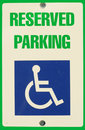 Reserved Parking Sign Royalty Free Stock Photos - 3553398