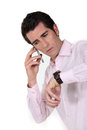 Man Calling In To Work Stock Images - 35512384