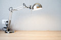 Sliver Desk Lamp On Desk Stock Image - 35516031