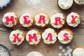 Christmas Cupcakes Stock Photos - 35516483