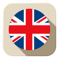 UK Flag Button Icon Modern Royalty Free Stock Photography - 35528867