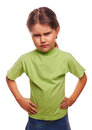 Angry Evil Girl Shows Fists Experiencing Anger And Royalty Free Stock Photos - 35528958