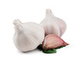 Garlic Bulbs And Cloves On White Stock Images - 35530554