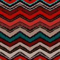 Hand Drawn Zigzag Pattern In Dark Colors. Royalty Free Stock Photo - 35536255