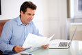 Professiona Businessman Looking At His Documents Royalty Free Stock Photography - 35545477