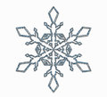 Frosted Snowflake Ornament Royalty Free Stock Photography - 35549597