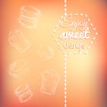 Macarons Sweets Background Card Stock Photography - 35550232
