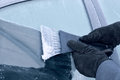 Winter Driving - Scraping Ice From A Car Window Stock Images - 35565634