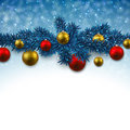 Blue Background With Christmas Balls. Stock Photos - 35569123