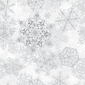 Christmas Seamless Pattern With Gray Snowflakes Royalty Free Stock Photos - 35571498