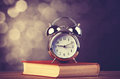Alarm Clock And Book Stock Image - 35576561