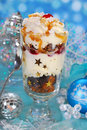 Chocolate Gingerbread And Whipped Cream Dessert For Christmas Royalty Free Stock Photos - 35581048