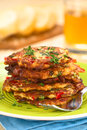 Zucchini And Bell Pepper Fritter Stock Photography - 35581572