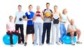 Group Of Fitness People. Stock Images - 35582584