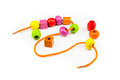 Colorful Wooden Beads Necklace Stock Photo - 35596950