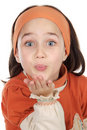 Girl Blowing A Kiss Stock Photography - 3560772