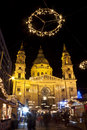 Basilica Square At Christmastime Royalty Free Stock Photography - 35606307