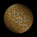 Gold Disco Lights Circle Abstract Background Stock Images - 35609004