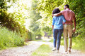 Young African American Couple Walking In Countryside Royalty Free Stock Photography - 35611467