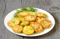 Fried Zucchini With Dill Stock Photography - 35618432