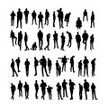 Vector Model Silhouettes Of Men. Part 8. Stock Photography - 35622212