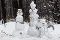 Family Snowmen Stock Photography - 35623322