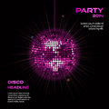 Pink Disco Ball Party Background2 Stock Images - 35643104