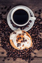 Cup Of Coffee And Sweets Royalty Free Stock Photos - 35644448