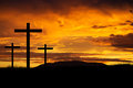 Jesus Easter Cross Royalty Free Stock Photos - 35656098