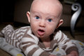 Baby With Silly Expression Drooling Royalty Free Stock Photo - 35661295