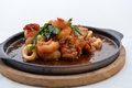 Stir Fried Squid And Shrimp Royalty Free Stock Photo - 35664285