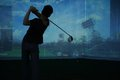 Man Playing At Golf Course Royalty Free Stock Image - 35667186