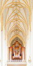 Jann Organ And Ceiling In Frauenkirche Cathedral In Munich, Germ Royalty Free Stock Photo - 35672775
