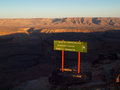 Fish River Canyon Attention Sign Royalty Free Stock Images - 35674229